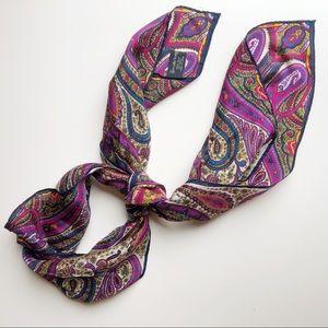 Vintage silk made in Japan paisley scarf